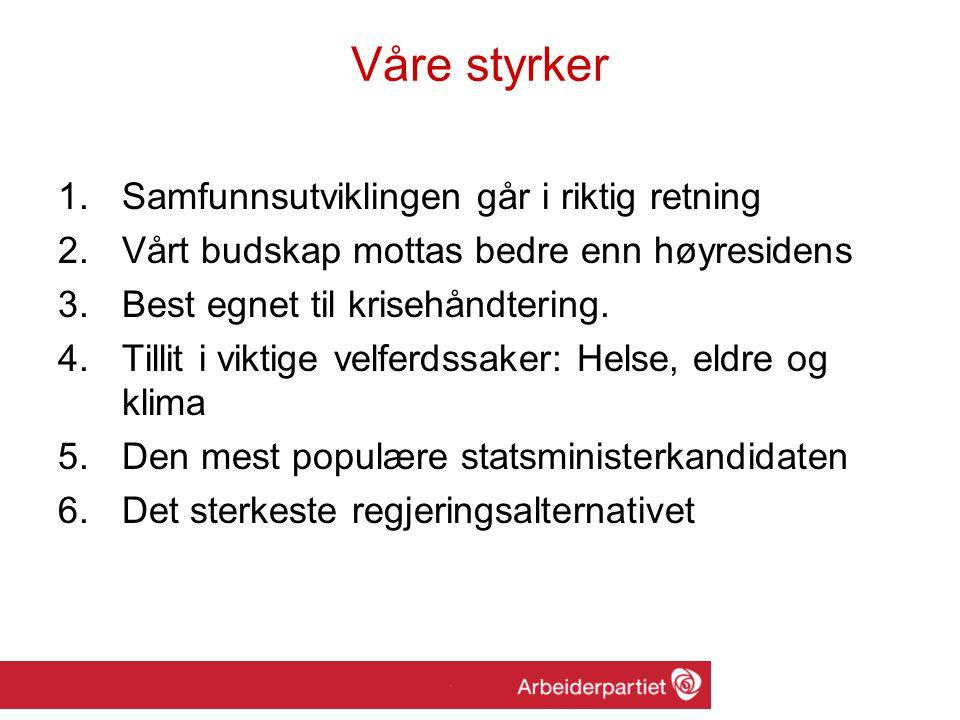 Hedmark: 2005: –50.484 stemmer –Ap 4 mandater: 1., 2., 4.