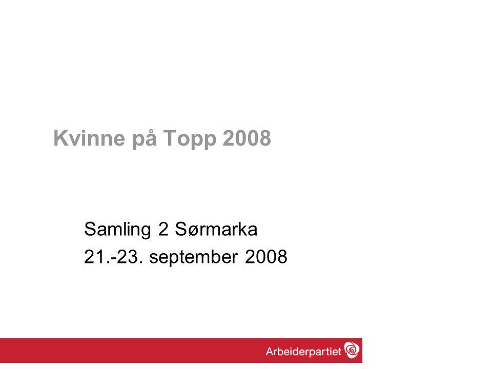 Gjøre deltakerne tydeligere og synlige som kandidater til topposisjoner i stortingsvalget 2009, og til andre topposisjoner i Ap.