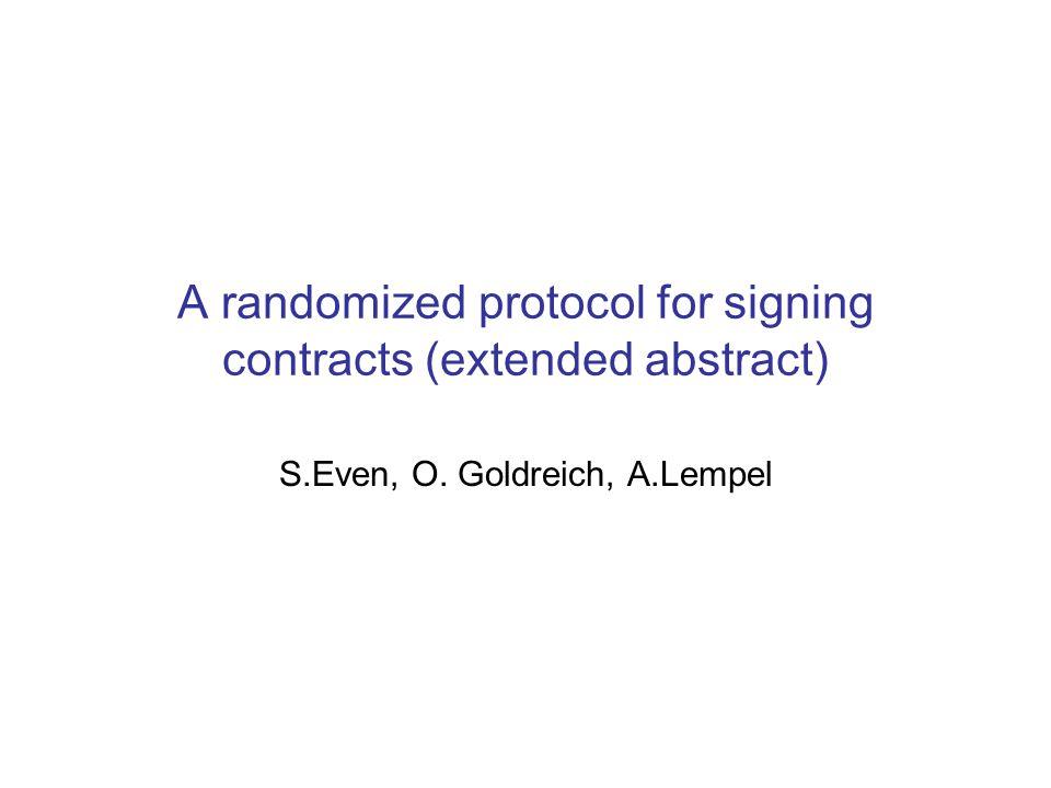 Kontraktsignering Hva bør eksistere.