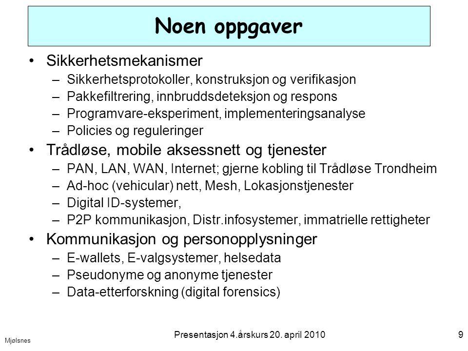 Mjølsnes Presentasjon 4.årskurs 20.