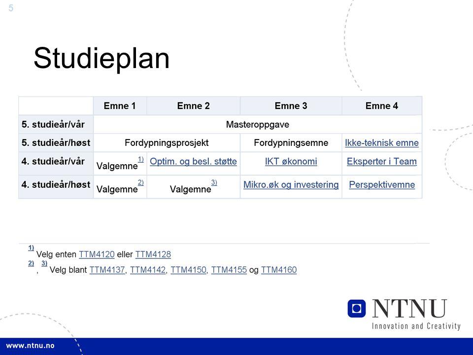 5 Studieplan