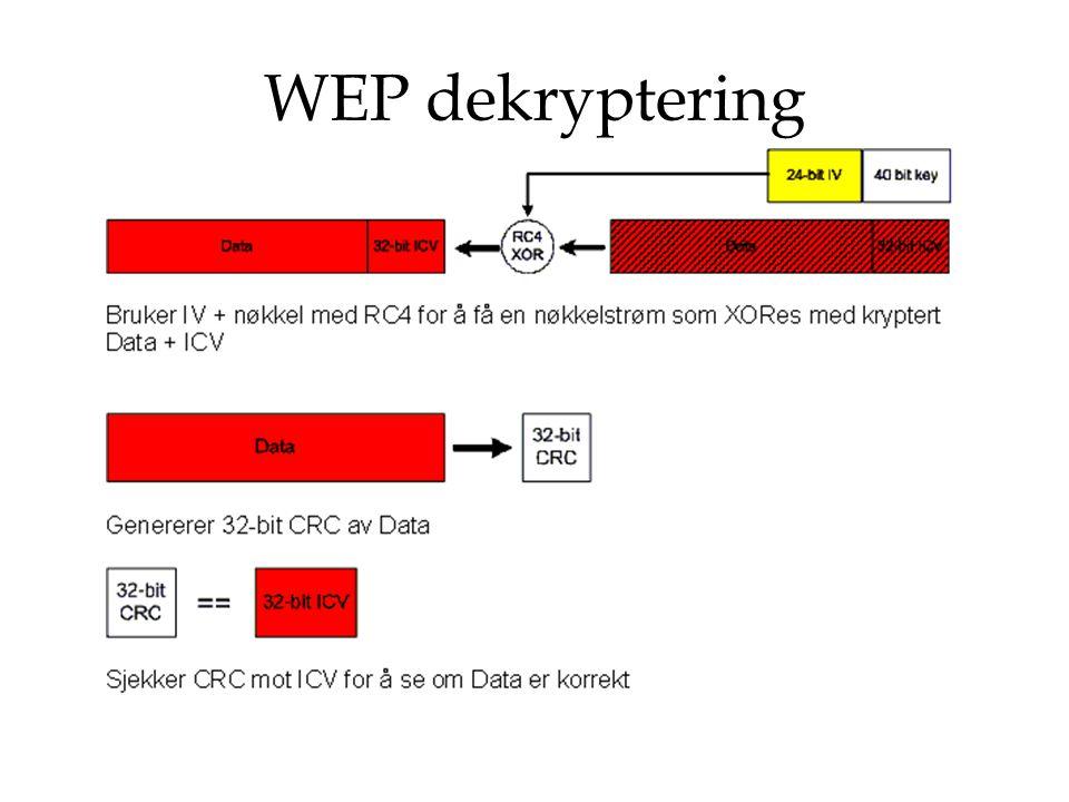 WEP dekryptering