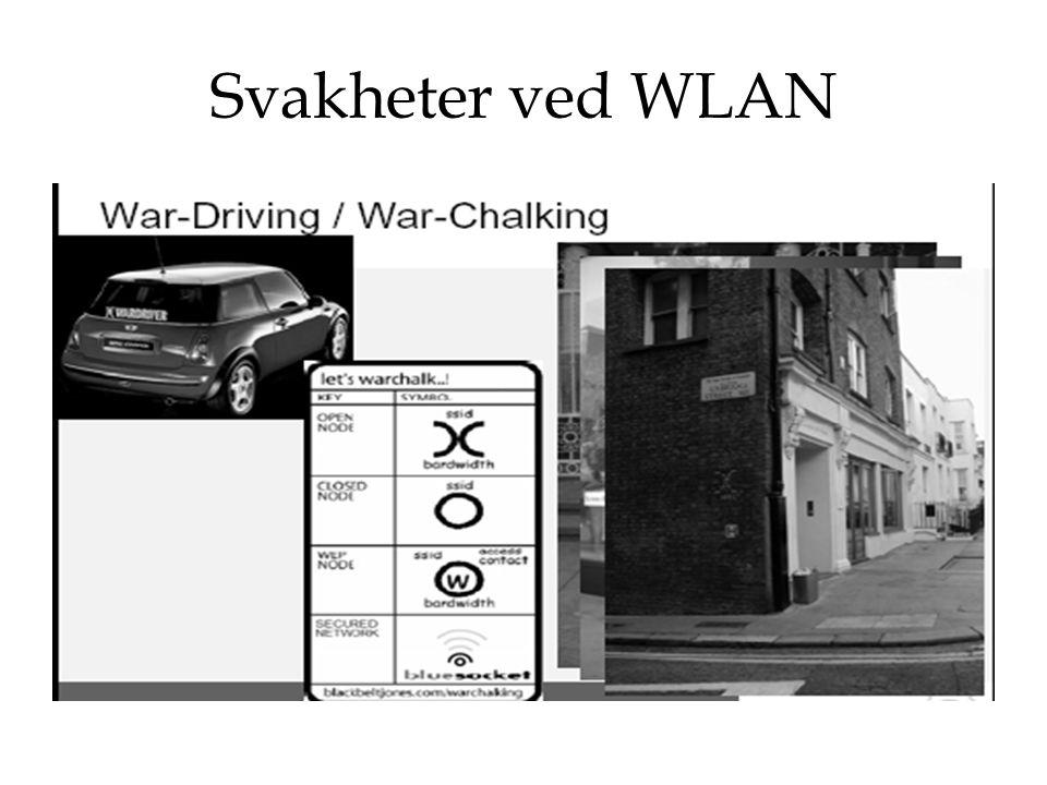 Svakheter ved WLAN