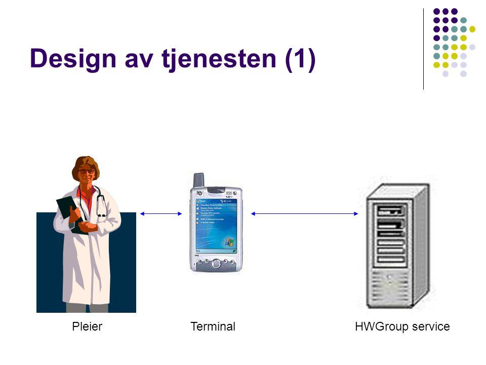Design av tjenesten (1) PleierTerminalHWGroup service