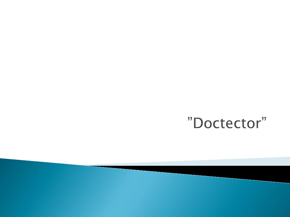 """Doctector"""