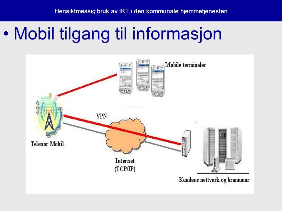Hensiktmessig bruk av IKT i den kommunale hjemmetjenesten Mobil tilgang til informasjon