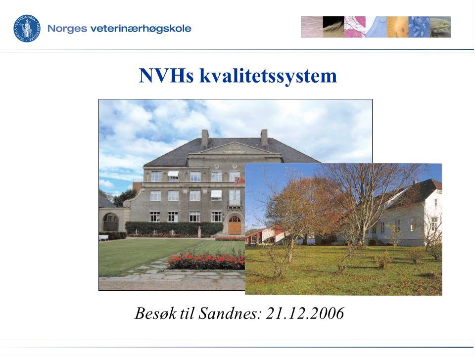 NVHs kvalitetssystem Besøk til Sandnes: 21.12.2006
