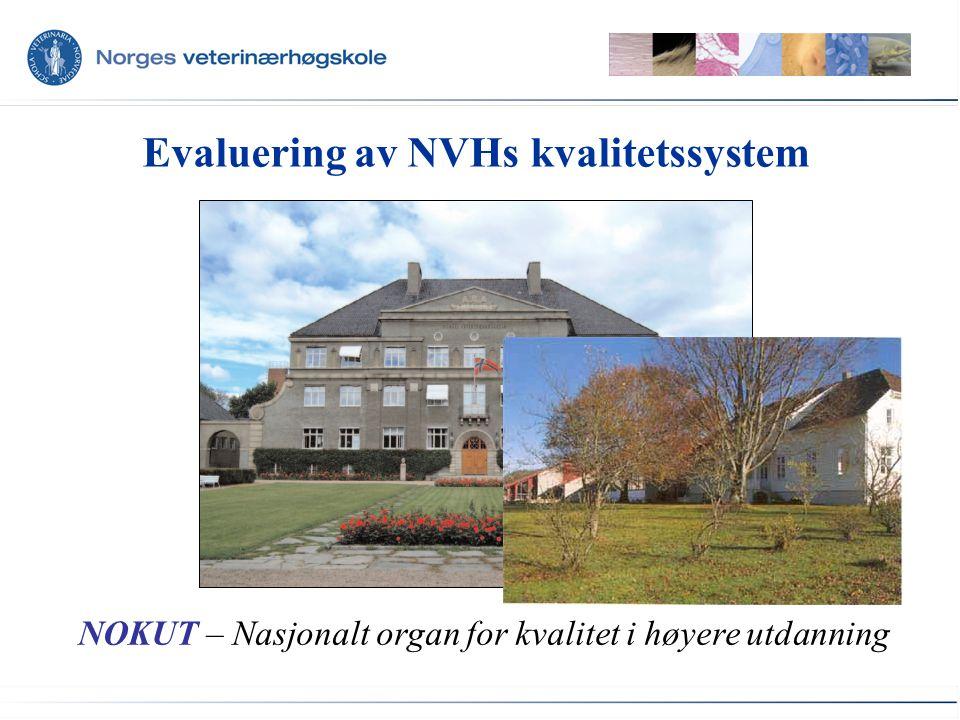 Evaluering av NVHs kvalitetssystem NOKUT – Nasjonalt organ for kvalitet i høyere utdanning