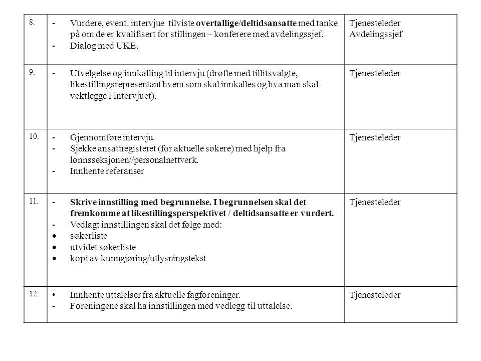 13 -Ved enighet om nr.1 – skrive ansettelsesbrev og arbeidsavtale i 2 eksemplarer til søker (Dok.