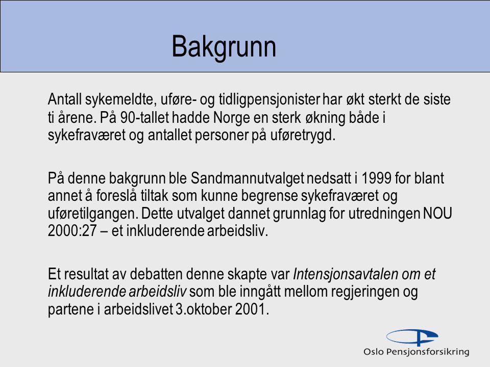 Sykefraværet før og etter innføringen av IA Det totale antall nye sykemeldingstilfeller har økt for personer i både IA-bedrifter og bedrifter uten IA avtale i perioden 1994 – 2004.