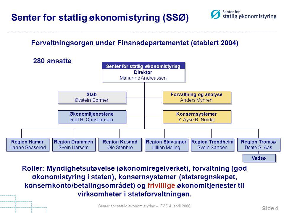 © Senter for statlig økonomistyring – FØS 4. april 2006 Økt bruk av elektroniske arbeidsprosesser
