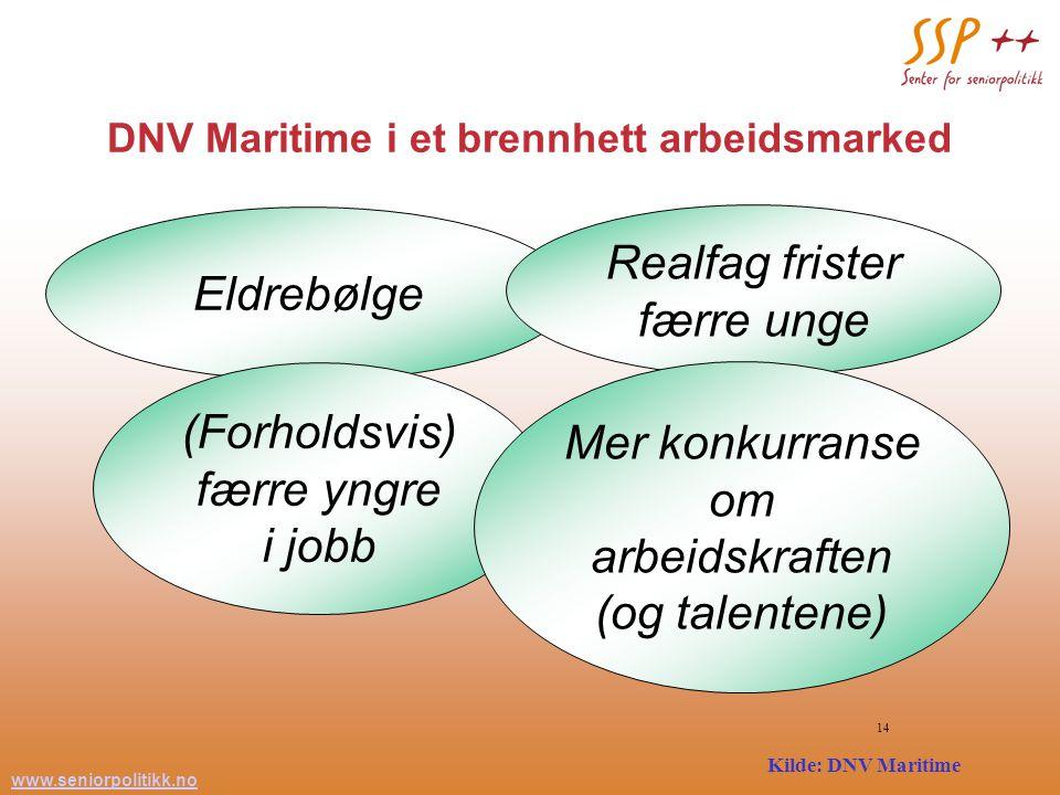 www.seniorpolitikk.no 14 DNV Maritime i et brennhett arbeidsmarked Og diskusjonen fortsatte...