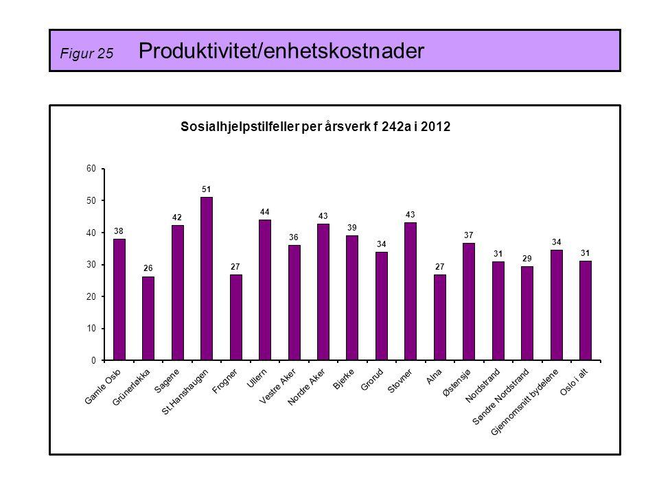 Figur 25 Produktivitet/enhetskostnader