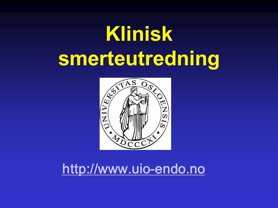 Klinisk smerteutredning http://www.uio-endo.no