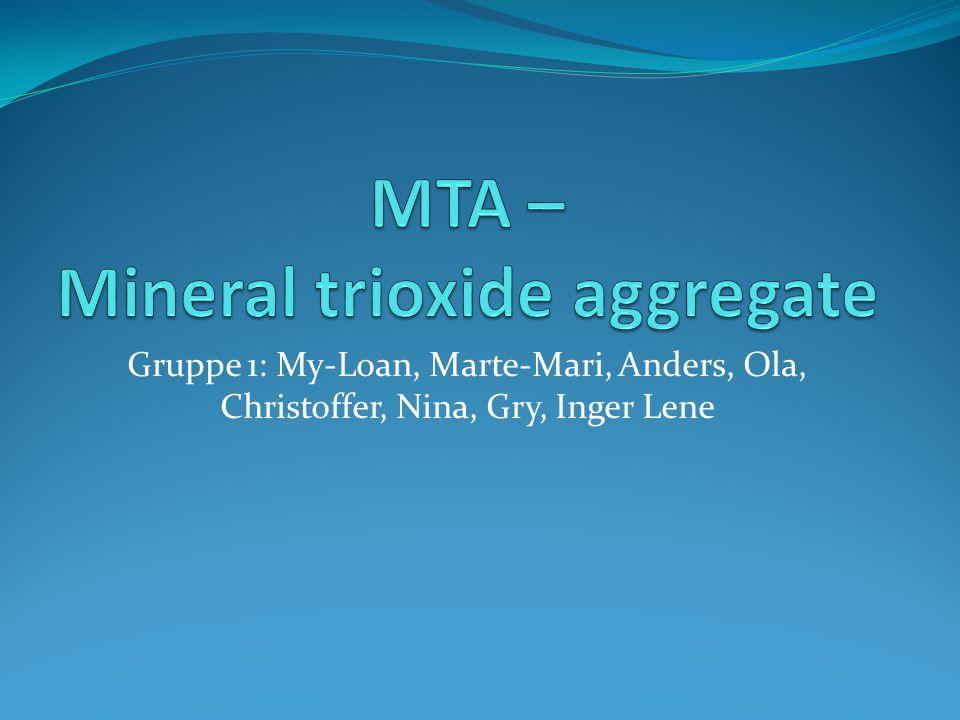 Litt historikk MTA ble utviklet av Dr.