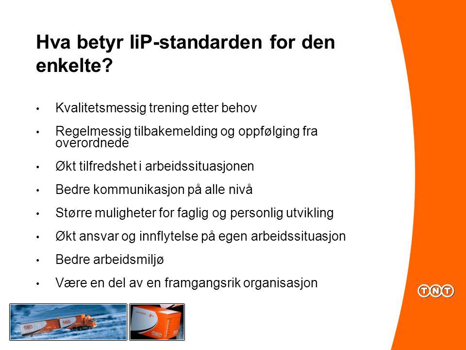 Hva betyr IiP-standarden for den enkelte.