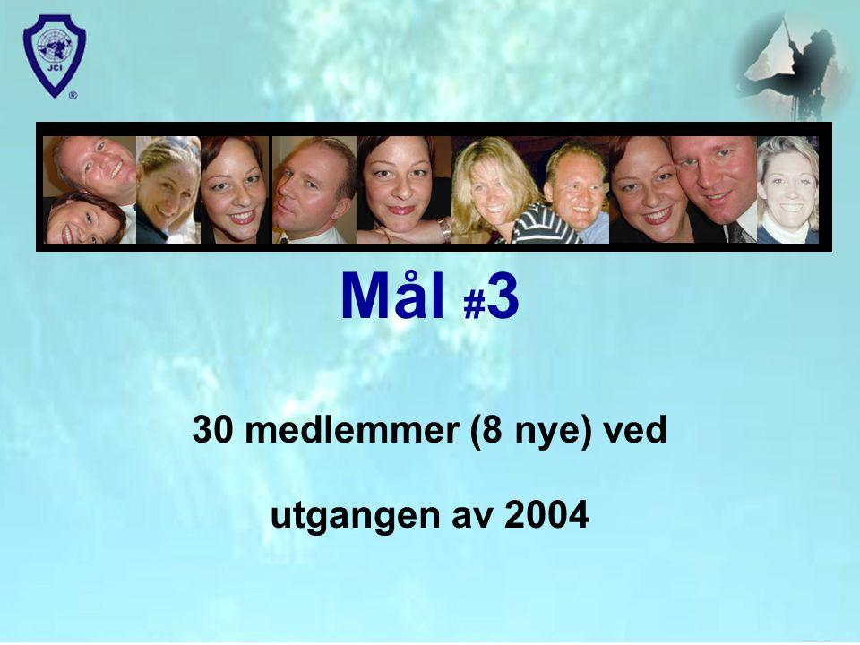 Mål # 3 30 medlemmer (8 nye) ved utgangen av 2004