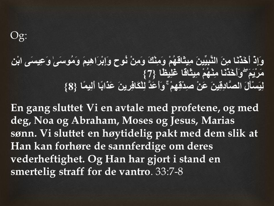 3) Allah Den Allmektige støttet ham ( ﷺ ) med mirakler, hedret ham over de andre sendebudene.