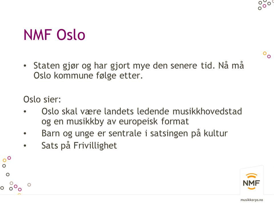 NMF Oslo Staten gjør og har gjort mye den senere tid.