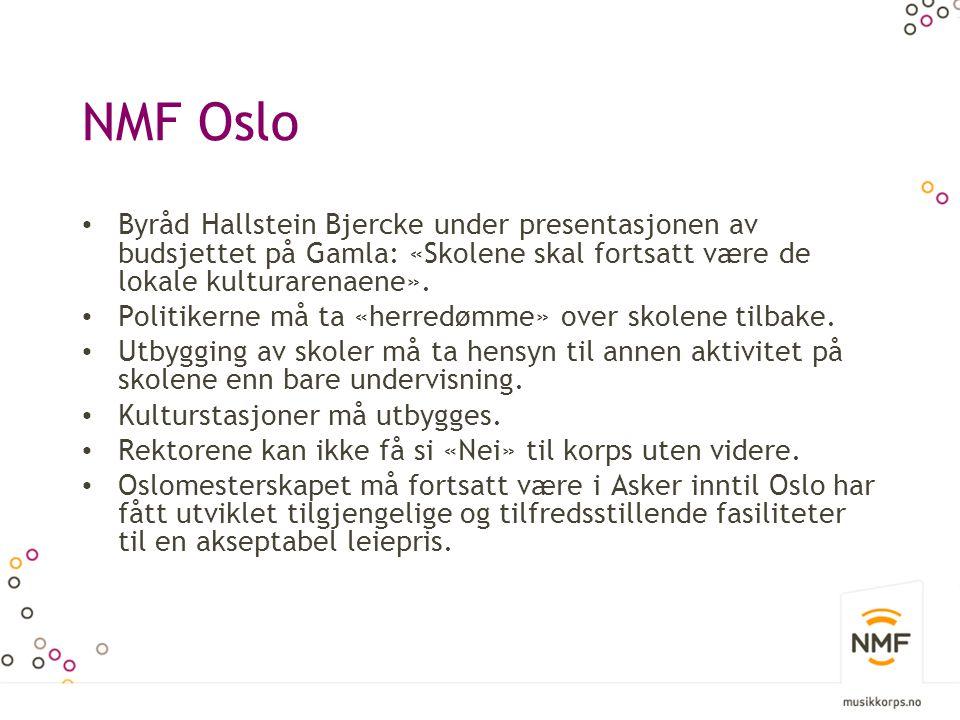 NMF Oslo Byråd Hallstein Bjercke under presentasjonen av budsjettet på Gamla: «Skolene skal fortsatt være de lokale kulturarenaene».