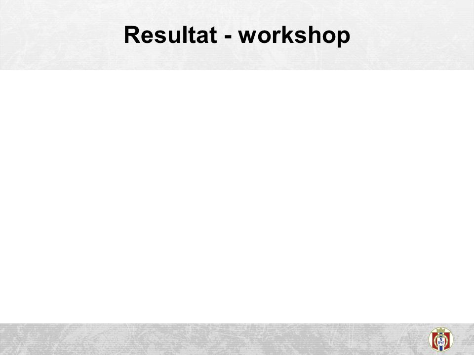 Resultat - workshop