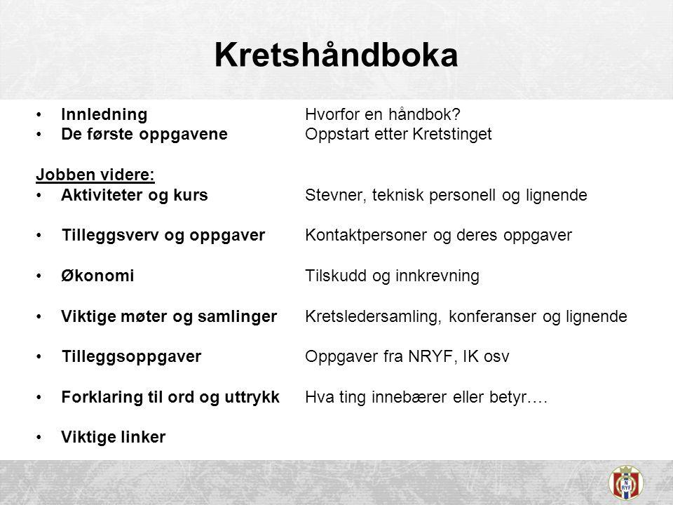 Kretshåndboka InnledningHvorfor en håndbok.