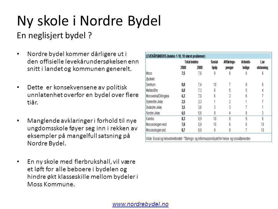 Ny skole i Nordre Bydel En neglisjert bydel .