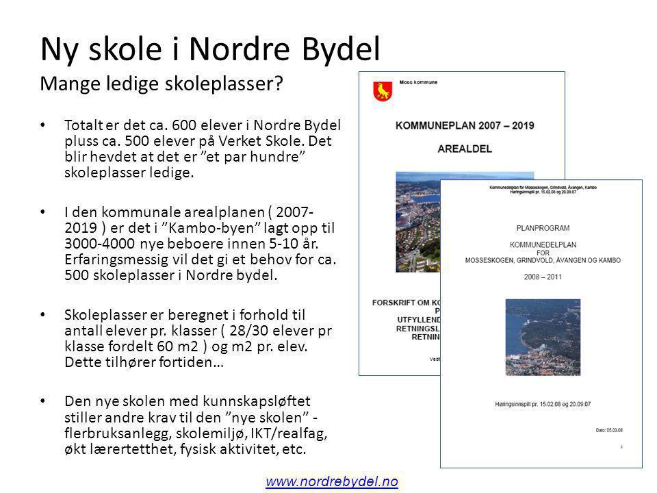 Ny skole i Nordre Bydel Mange ledige skoleplasser.