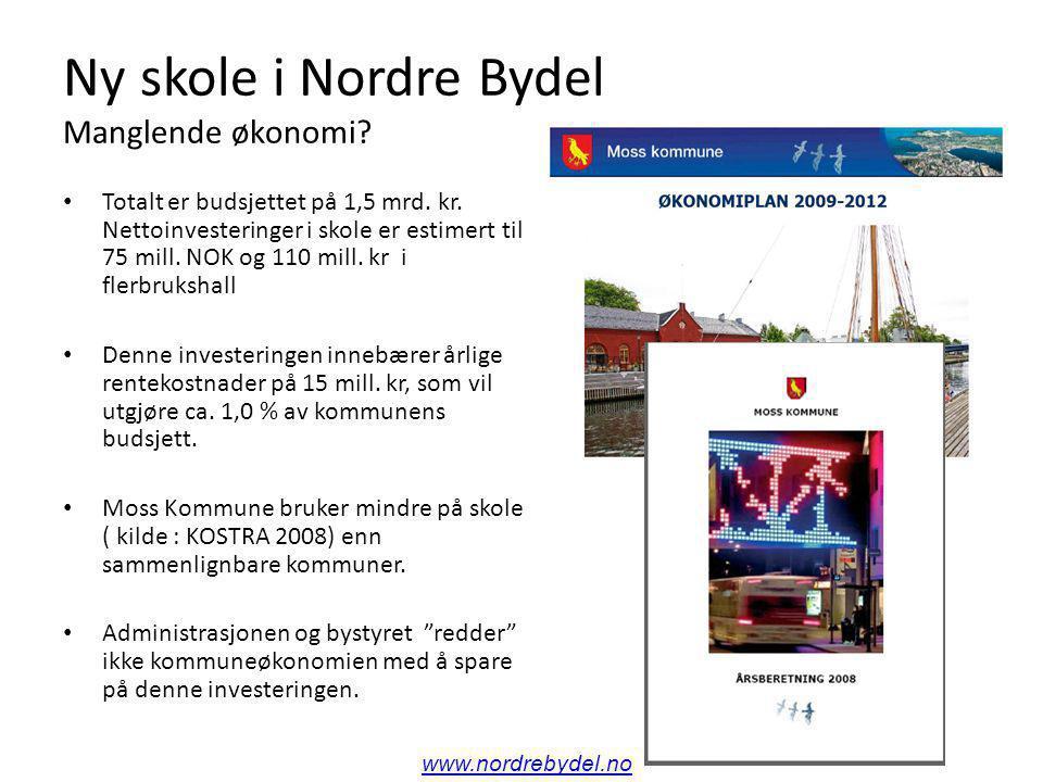Ny skole i Nordre Bydel Manglende økonomi.Totalt er budsjettet på 1,5 mrd.