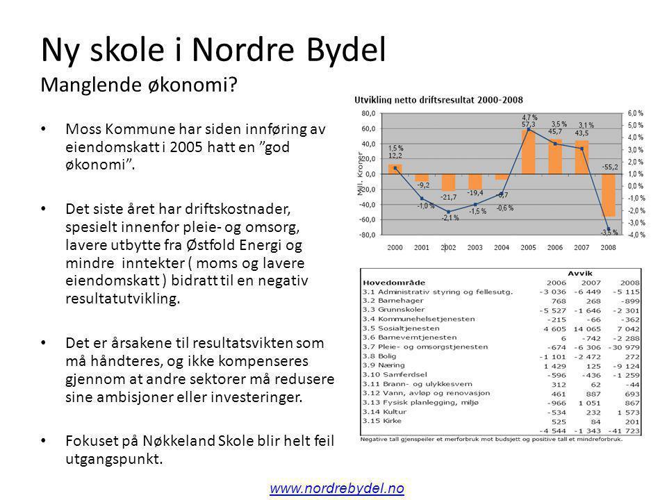 Ny skole i Nordre Bydel Manglende økonomi eller omdisponeringer.