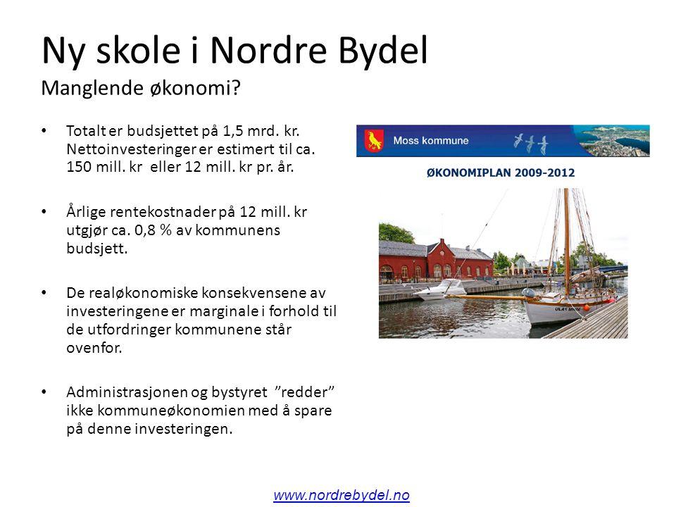 Ny skole i Nordre Bydel Manglende økonomi. Totalt er budsjettet på 1,5 mrd.