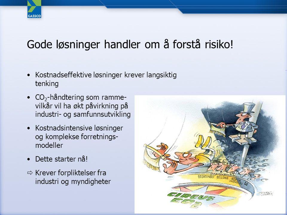 Status CO 2 transport Tekniske studier på plan Konseptvalg desember 2008 Industrien er invitert – underlag for beslutning om deltakelse under utarbeidelse –Gassled/Gassco (Prosess), Fortum (KKV), Haugaland Kraft (KKV), Industrikraft Midt-Norge (GKV), Industrikraft Møre (GKV), Naturkraft (GKV), Pohjolan Voima Oy (KKV) og Husnes (KKV) Investeringsbeslutning Q4 2009 Kilde: Google Earth