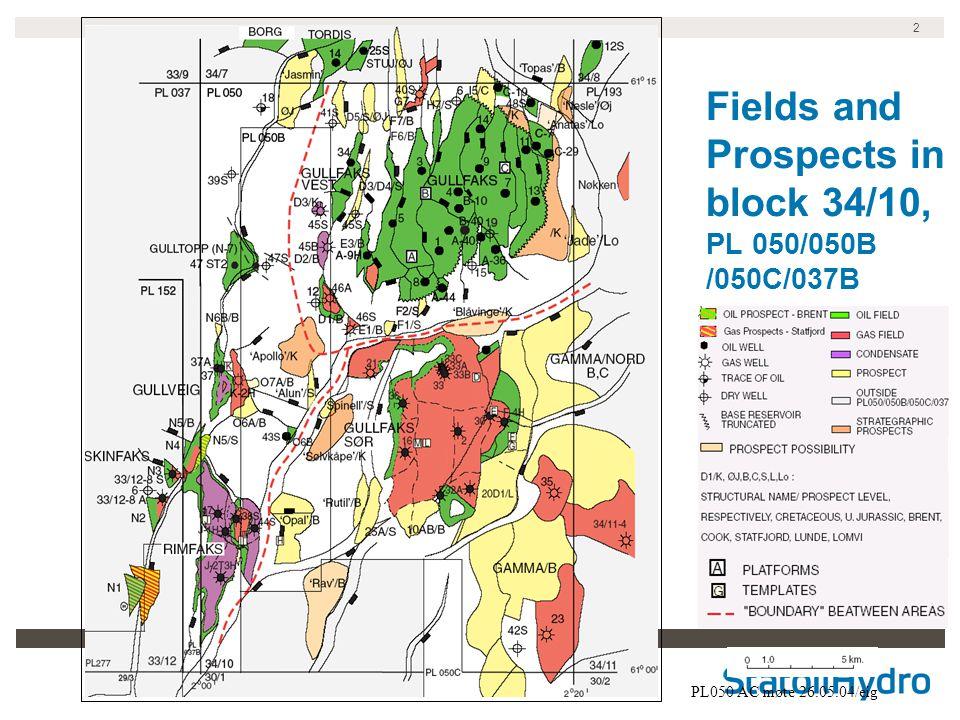2 Fields and Prospects in block 34/10, PL 050/050B /050C/037B PL050 AC møte 26.05.04/eig