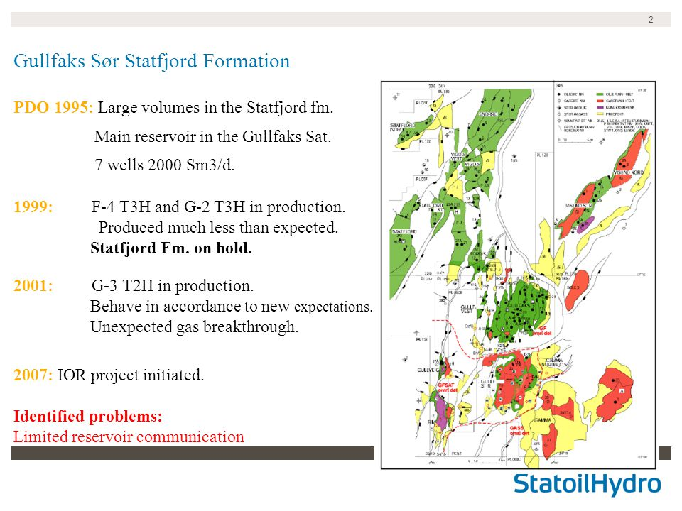 2 Gullfaks Sør Statfjord Formation PDO 1995: Large volumes in the Statfjord fm.