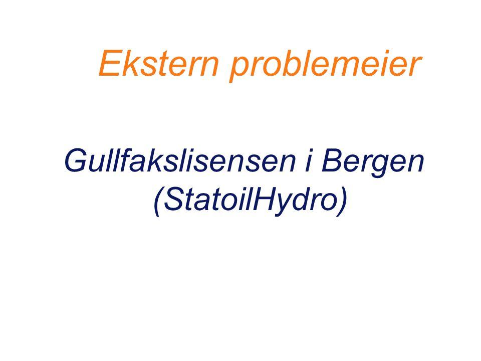 Ekstern problemeier Gullfakslisensen i Bergen (StatoilHydro)