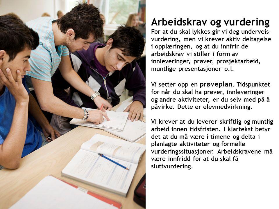 Arbeidsro er viktig for læringsutbyttet! Bråk og uro aksepteres ikke