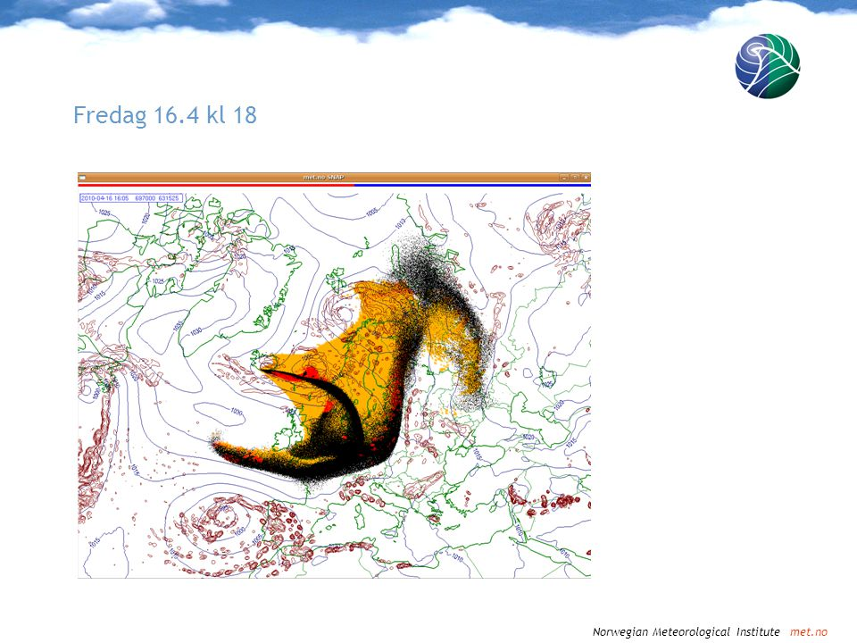 Norwegian Meteorological Institute met.no Fredag 16.4 kl 18