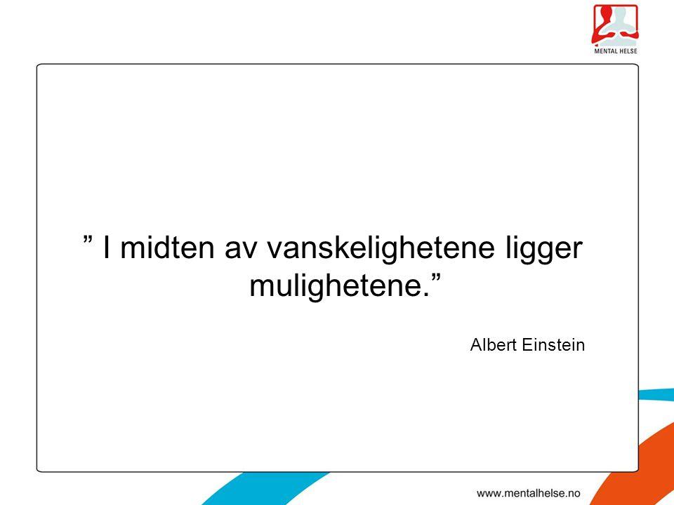 """"""" I midten av vanskelighetene ligger mulighetene."""" Albert Einstein"""