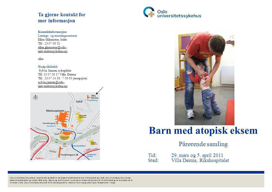 Ta gjerne kontakt for mer informasjon Kontaktinformasjon: Lærings- og mestringssenteret Ellen Glåmseter, leder Tlf.: 23 07 08 20 ellen.glamseter@oslo-