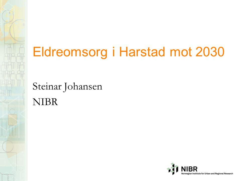 Problemstilling Vi hører mye om eldrebølgen Hvilke konsekvenser vil denne ha for Harstad kommune.