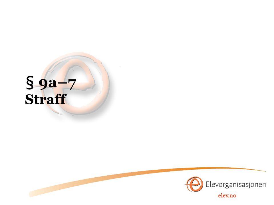 § 9a–7 Straff