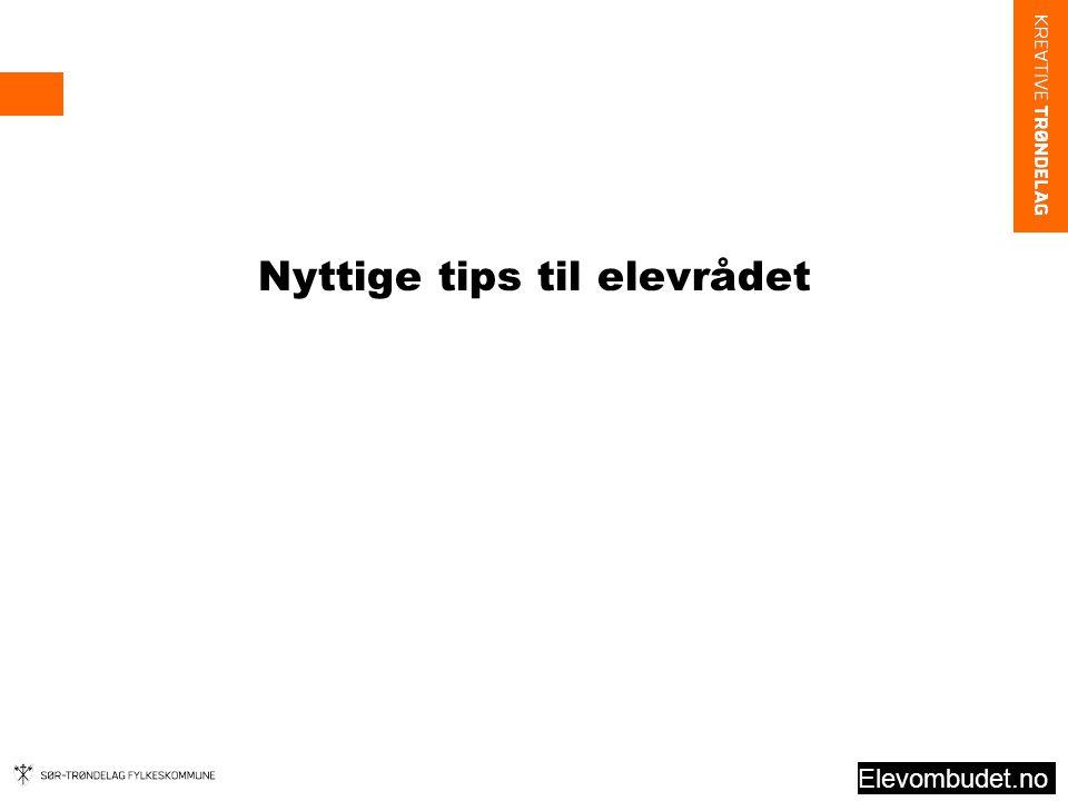 Nyttige tips til elevrådet Elevombudet.no