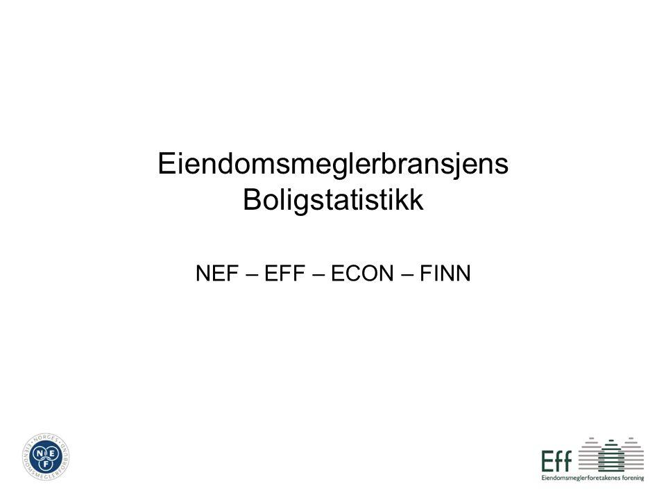 Eiendomsmeglerbransjens Boligstatistikk NEF – EFF – ECON – FINN
