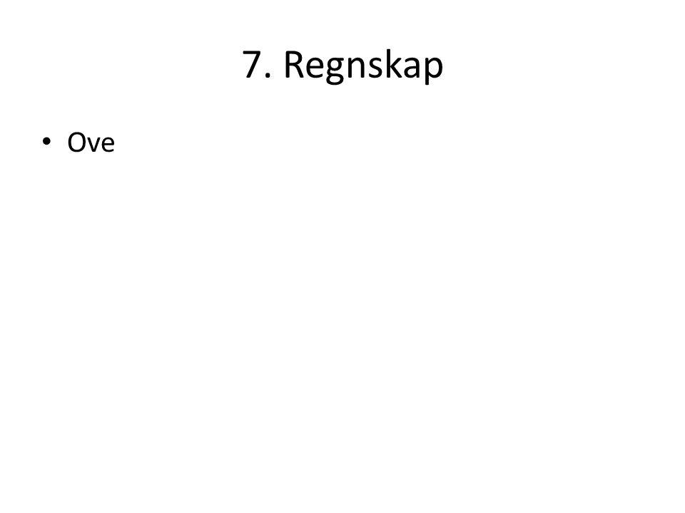 7. Regnskap Ove