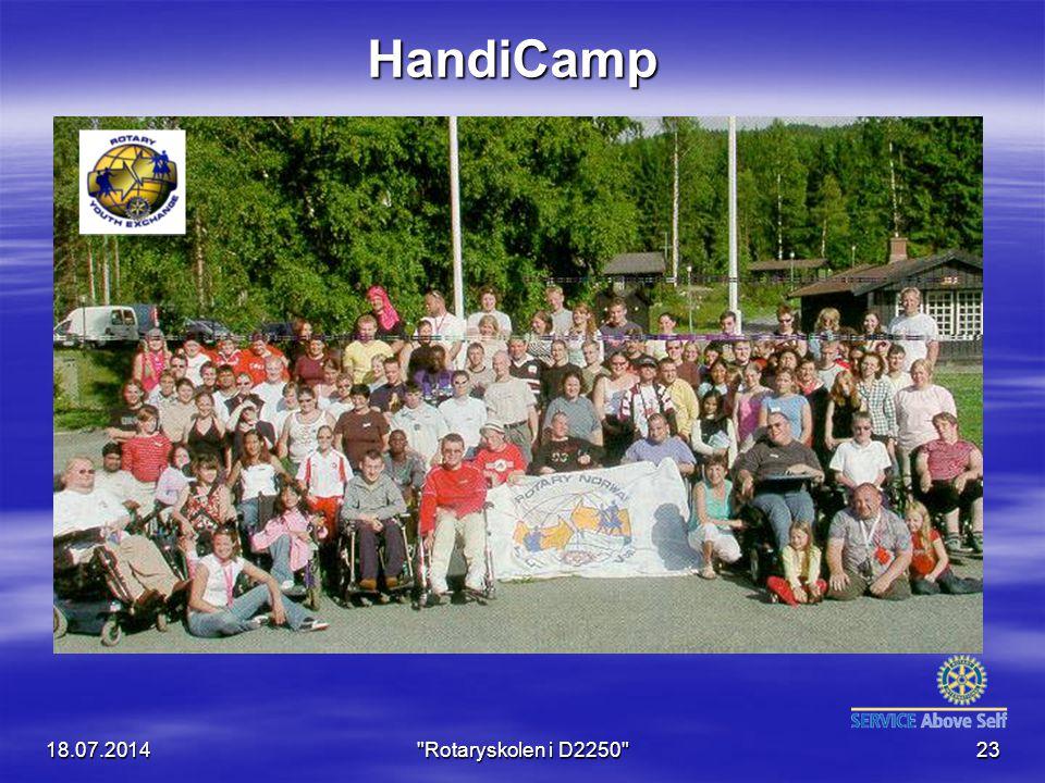 18.07.2014 Rotaryskolen i D2250 23 HandiCamp