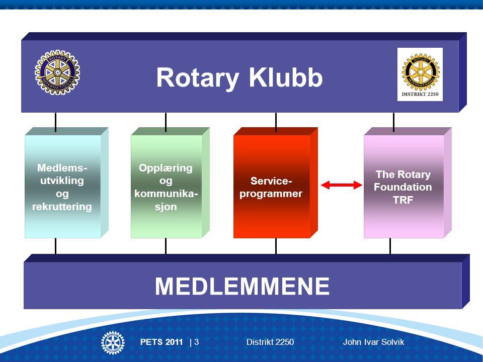 PETS 2011 | 4 Distrikt 2250 John Ivar Solvik Klubbkomité for serviceprosjekter Ressurs til hjelp for å gjennomføre et vellykket serviceprosjekt.
