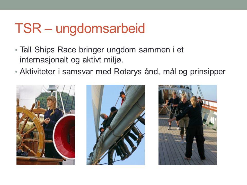 TSR – ungdomsarbeid Tall Ships Race bringer ungdom sammen i et internasjonalt og aktivt miljø.