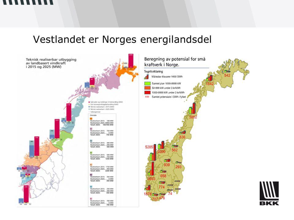 Vestlandet er Norges energilandsdel