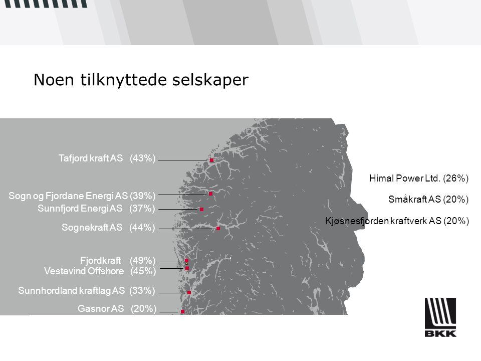 Tafjord kraft AS (43%) Sogn og Fjordane Energi AS (39%) Sunnfjord Energi AS (37%) Sognekraft AS (44%) Fjordkraft (49%) Sunnhordland kraftlag AS (33%)