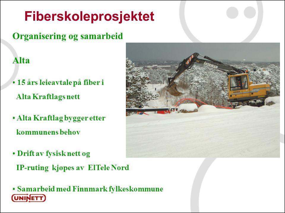 11 Fiberskoleprosjektet Organisering og samarbeid Alta 15 års leieavtale på fiber i Alta Kraftlags nett Alta Kraftlag bygger etter kommunens behov Drift av fysisk nett og IP-ruting kjøpes av ElTele Nord Samarbeid med Finnmark fylkeskommune